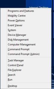 Windows X options
