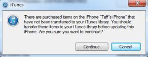 Download media to iTunes